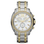 Ladies' Michael Kors Mid-Size Cameron Chronograph Two-Tone Glitz Watch