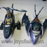 Collectible Batcopter and Batplane toys